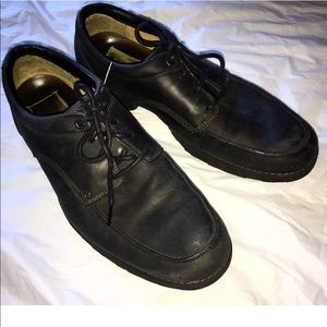Timberland Black Nubuck Leather Oxford Shoes